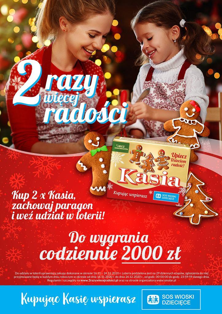 '2 razy więcej radości' na święta - z Kasią. Wesprzyj SOS Wioski Dziecięce i wygraj 2000 zł!