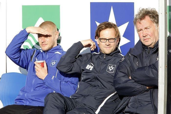 Runar Sigmundsson (w środku), trener zespołu Stjarnan