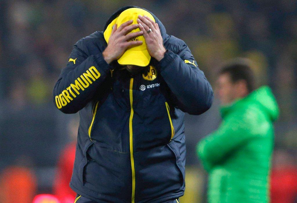Juergen Klopp, którego twarzy lepiej nie widzieć. Ligowy mecz Borussii z VFL Wolfsburg