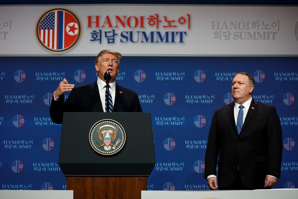 Donald Trump na konferencji prasowej po szczycie w Wietnamie