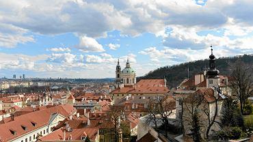 Panorama czeskiej Pragi
