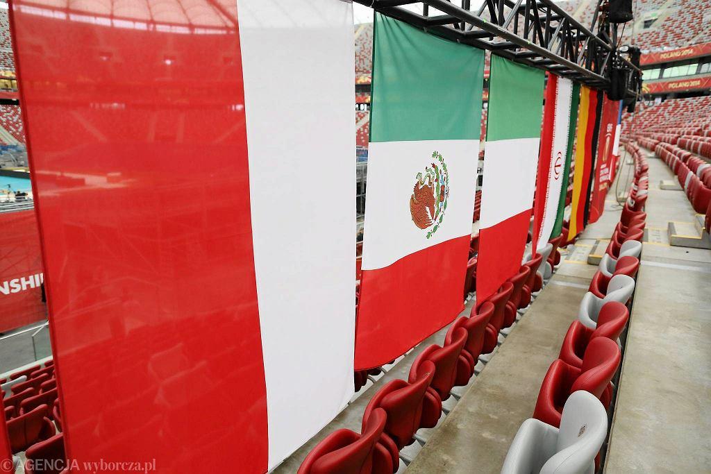 Przygotowywanie Stadionu Narodowego na inaugurację siatkarskich mistrzostw świata