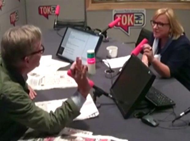 Beata Kempa w studiu TOK FM odpowiada na pytania Jacka Żakowskiego