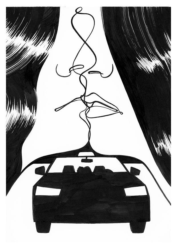 Ilustracja Agaty Bogackiej z komiksu 'Istota'