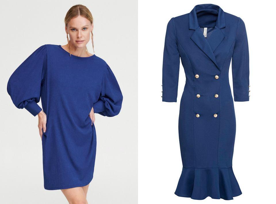 sukienki classic blue