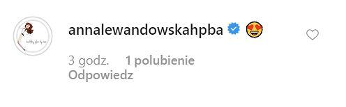 Anna Lewandowska komentuje