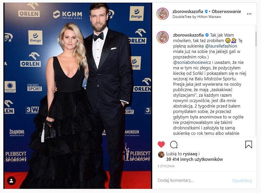 Zosia Zborowska pożyczyła sukienkę od Soni Bohosiewicz