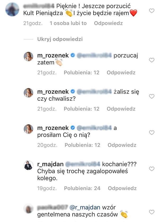 Radosław Majdan broni Małgorzaty Rozenek