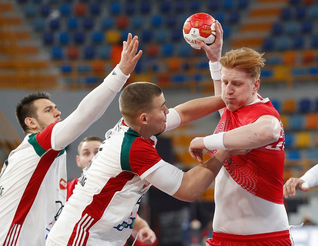 Egipt, Kair, 23.01.2021. Mistrzostwa świata piłkarzy ręcznych: Polska - Węgry. Tomasz Gębala