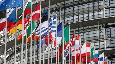 Budynek Europarlamentu w Strasbourgu. Francja, 31 stycznia 2020