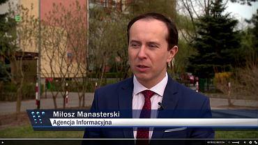 Kadr z 'Wiadomości TVP'