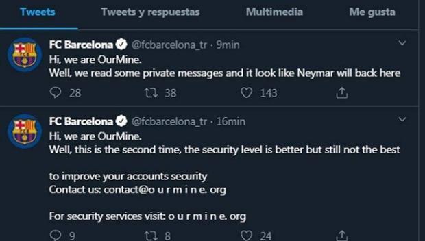 Włamanie na koncie Barcelony na Twitterze