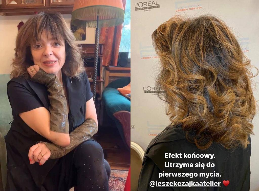 Katarzyna Grochola nowa fryzura. Pisarka postawiła na odmładzający kolor i cięcie
