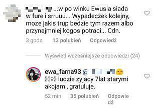 Ewa Farna komentuje