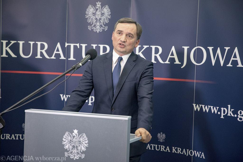 Prokurator Generalny Zbigniew Ziobro.
