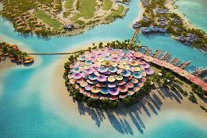 Arabia Saudyjska. Powstaje rajska wyspa. Wizualizacje rozpalają wyobraźnię