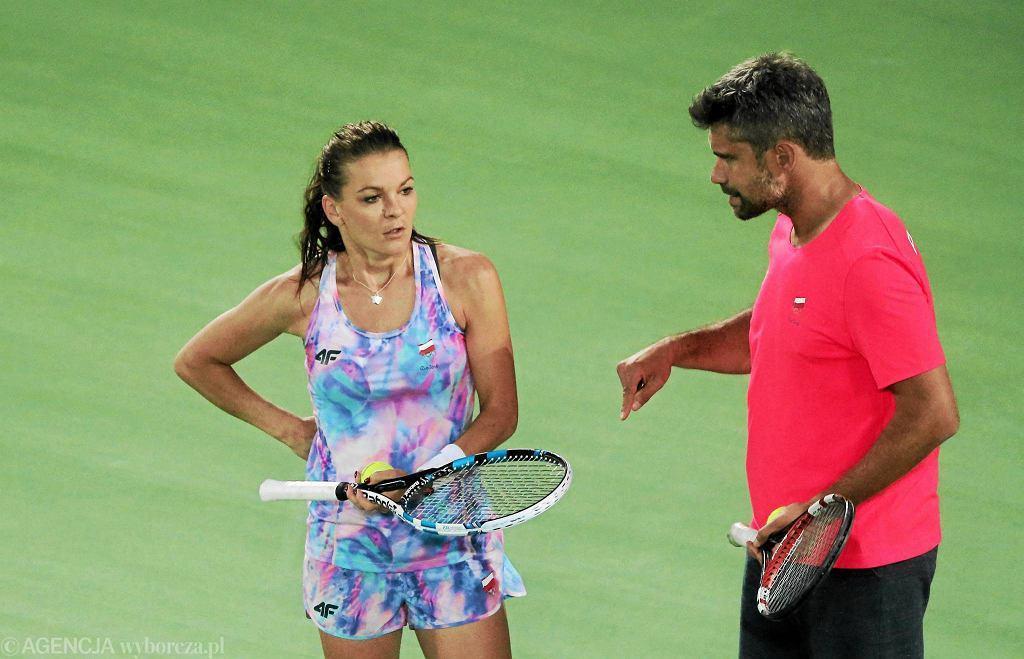 Agnieszka Radwańska i Tomasz Wiktorowski w Rio