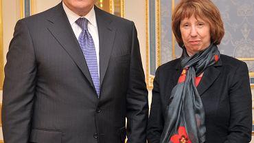 Wiktor Janukowycz i Catherne Ashton