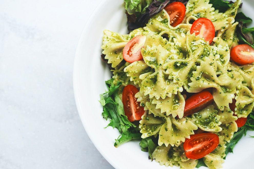 Klasyczny makaron z zielonym Pesto Genovese