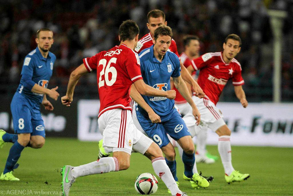 Wisła Kraków - Lech Poznań 2:0. Kasper Hamalainen (w środku)