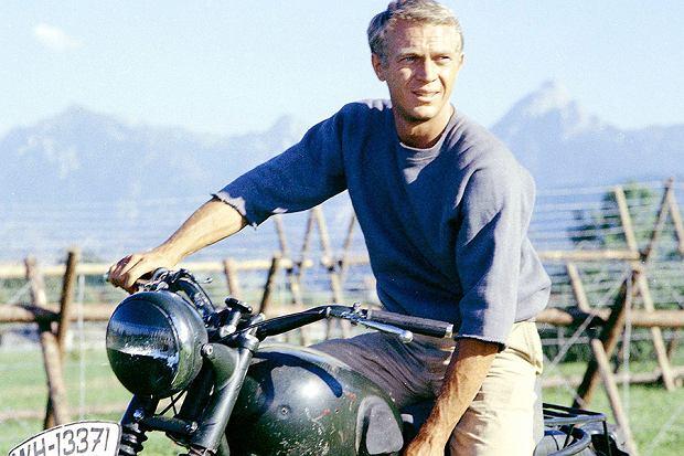 Steve McQueen w filmie 'Wielka Ucieczka