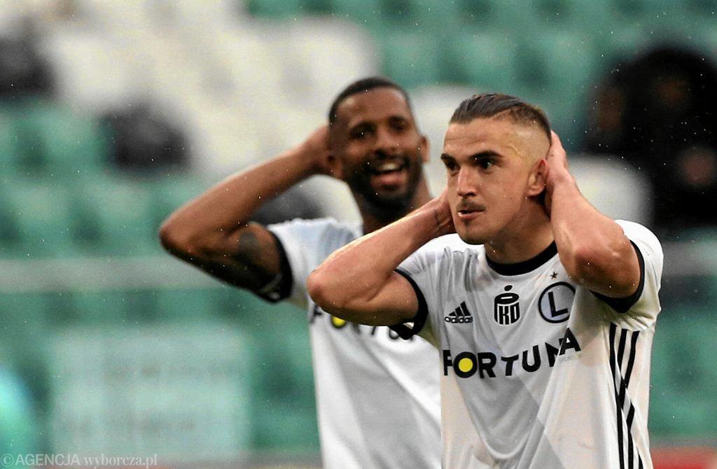 Carlitos i Cafu w meczu Legia - Pogoń