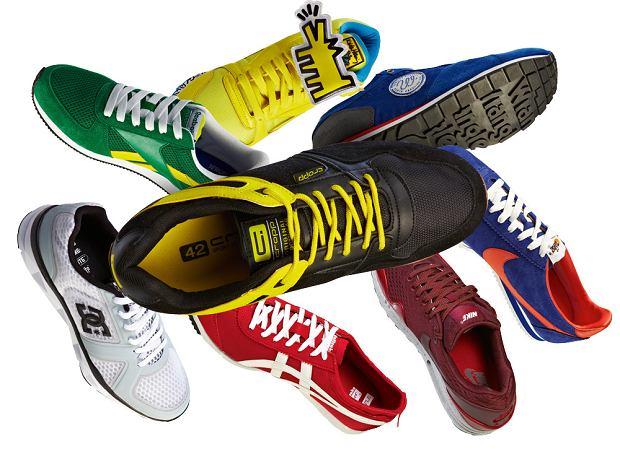 Buty sportowe w stylu retro, buty, styl, moda męska
