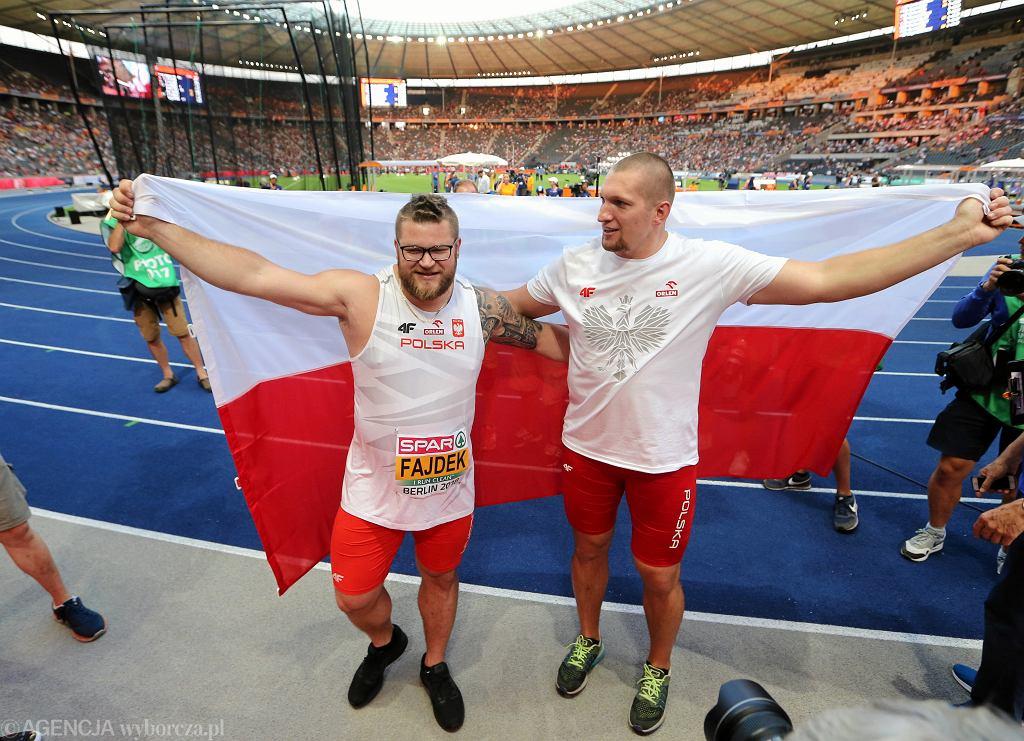 Mistrz (po prawej - Wojciech Nowicki) i wicemistrz (Paweł Fajdek) Europy w rzucie młotem