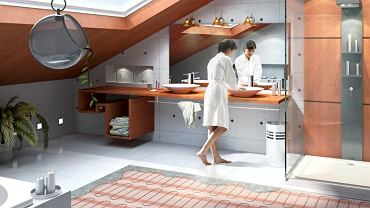 Ogrzewanie podłogowe idealnie sprawdza się w łazience