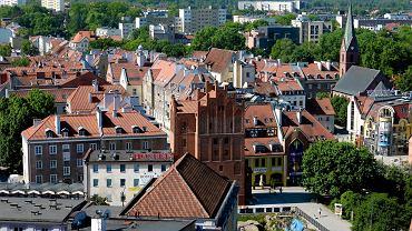 Widok na Stare Miasto w Olsztynie