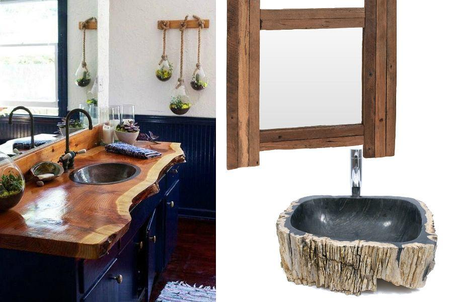 drewniane dodatki do łazienki
