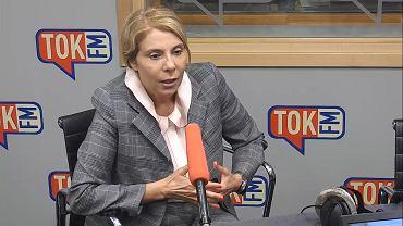 Barbara Dolniak w studiu TOK FM.