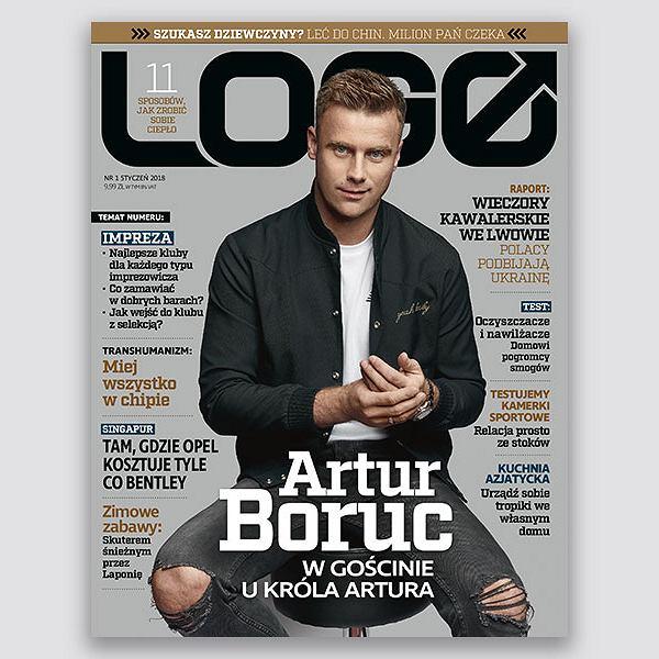 Artur Boruc bohaterem okładkowym styczniowego wydania 'LOGO'