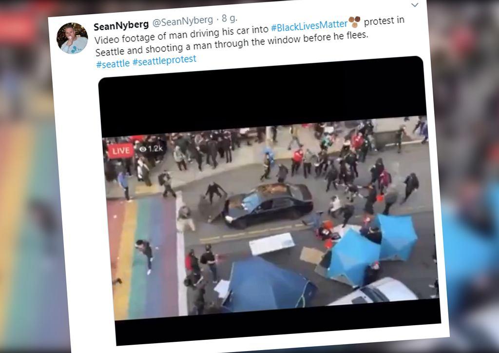 USA. Chciał wjechać samochodem w tłum protestujących, postrzelił jednego z nich
