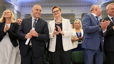 Barbara Nowacka, Grzegorz Schetyna i Katarzyna Lubnauer