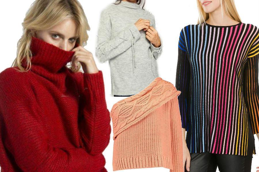 fot. materiały partnera/ kolorowe swetry na zimę