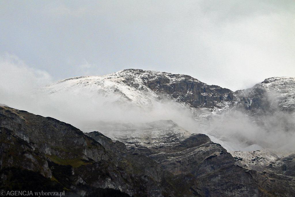 Śnieg w Tatrach 22 września