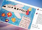 Ośmiolatka zachorowała w samolocie, pomogła jej obsługa. W sieci pojawił się jej uroczy rysunek z podziękowaniami