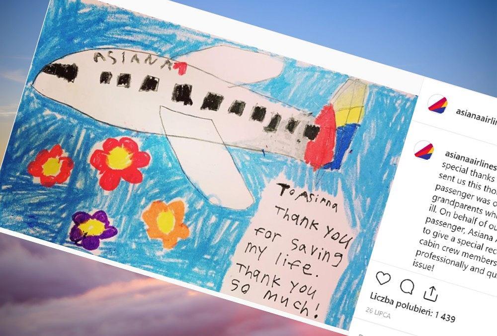 Dziewczynka zachorowała podczas podróży samolotem. Pomogła jej obsługa pokładu.