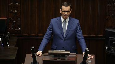 Mateusz Morawiecki w Sejmie. Informacja na temat konkluzji po zakończonym szczycie Rady Europejskiej