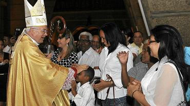 Arcybiskup Józef Wesołowski - jeszcze jako nuncjusz apostolski na Dominikanie - podczas mszy w Santo Domingo, 15 marca 2013 r.
