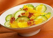Sałatka pomarańczowo-ogórkowa - ugotuj