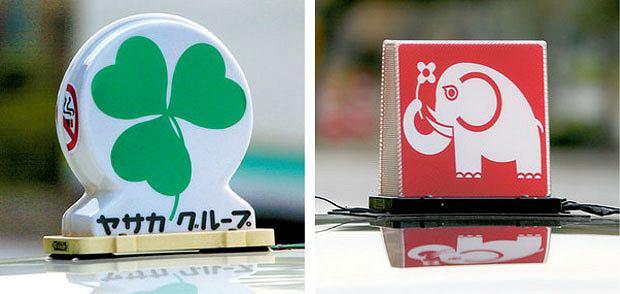 Podróże: pierwsze spotkanie z Japonią, azja, podróże, Taksówki w Kioto mają zabawne, ale przynajmniej czytelne oznaczenia