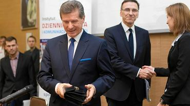 Czesław Małkowski, a z tyłu Piotr Grzymowicz