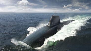 Wizualizacja komputerowa okrętu podwodnego Successor