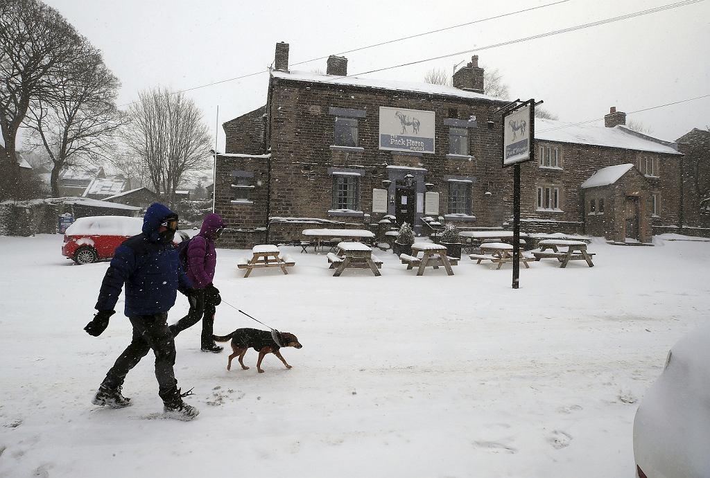 Śnieg w Irlandii i Wielkiej Brytanii