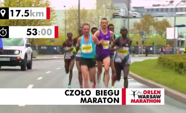 Henryk Szost w czołówce Orlen Warsaw Marathon