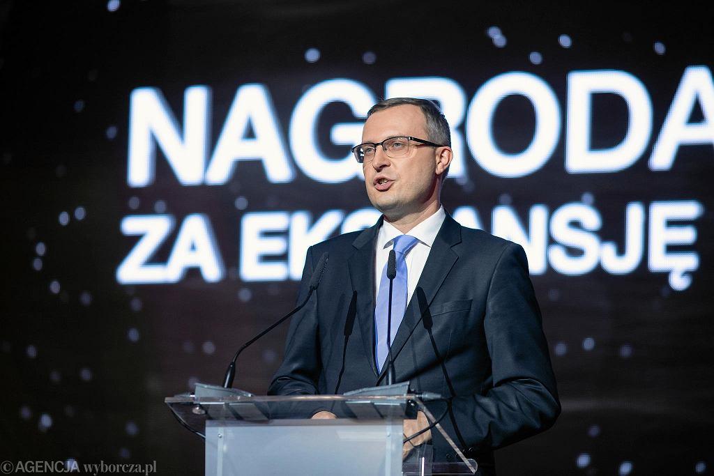 22.11.2018, Warszawa, gala konkursu 'Przedsiębiorca Roku'. Na zdjęciu prezes Polskiego Funduszu Rozwoju Paweł Borys.