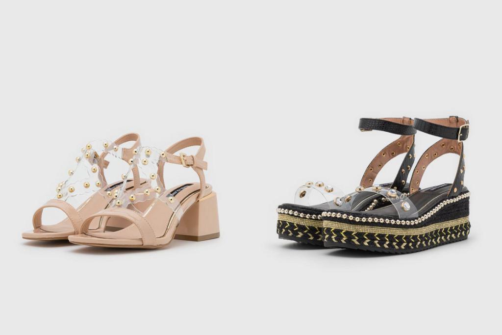 Łączone elementy w butach dają naprawdę ciekawy efekt!