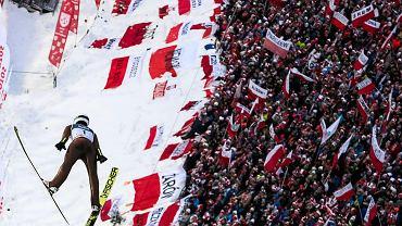 Przemysław Kantyka podczas Konkursu Indywidualnego Pucharu Świata w skokach narciarskich . Zakopane, 20 stycznia 2019